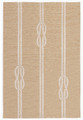 """NAUTICAL KNOTS"" INDOOR OUTDOOR RUG - NATURAL - 5' x 7'6"""