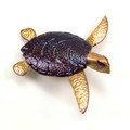 SEA TURTLE METAL WALL SCULPTURE - NAUTICAL DECOR