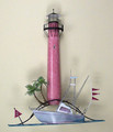 JUPITER LIGHTHOUSE METAL WALL SCULPTURE - NAUTICAL DECOR