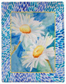 """DAZZLING DAISIES"" THROW BLANKET - 50"" X 60"" - DAISY THROW"