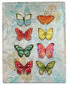 "BUTTERFLY COLLECTION THROW BLANKET - 50"" X 60"" - POLYESTER THROW"