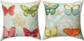 "BUTTERFLY COLLECTION REVERSIBLE INDOOR OUTDOOR PILLOW - 18"" SQUARE"