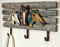 WILD HORSES TRIPLE WALL MOUNTED HOOK - EQUESTRIAN DECOR
