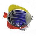 """MURANO GLASS MULTICOLOR TROPICAL FISH SCULPTURE - 7""""H"""