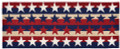 "PATRIOTIC STARS AND STRIPES INDOOR OUTDOOR RUG - 24"" x 60"" RUNNER"