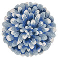 BLUE CHRYSANTHEMUM INDOOR OUTDOOR ROUND RUG - 5' ROUND RUG