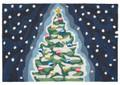 """O TANNENBAUM"" CHRISTMAS TREE RUG - 30"" x 48"" - INDOOR OUTDOOR RUG"