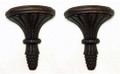 """DEVONSHIRE"" DECORATIVE WOODEN WALL BRACKET PAIR - WOODEN WALL SHELVES"