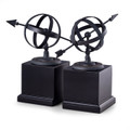 ARMILLARY SPHERE BOOKENDS - SUNDIAL BOOKENDS
