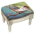 BIRD ON BRANCH NEEDLEPOINT FOOTSTOOL - FOOT STOOL