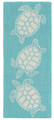 """TURTLE KEY"" SEA TURTLE RUG - BLUE GREEN - INDOOR OUTDOOR RUG - 2' x 5' RUNNER"
