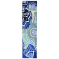"""DEEP BLUE SEA"" RUG - 2' x 5' RUNNER - JELLYFISH & SAND DOLLAR - INDOOR OUTDOOR RUG"