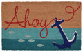 """ANCHORS AHOY"" VINYL BACK COIR DOORMAT - 18"" X 30"" - NAUTICAL DECOR"