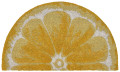 "LEMON SLICE VINYL BACK DEMILUNE COIR DOORMAT - 18"" X 30"" - 1/2 ROUND DOOR MAT"