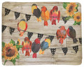 "AUTUMN BIRDS & SUNFLOWERS FLEECE THROW BLANKET - 50"" X 60"""