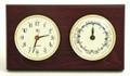 """SOUTHAMPTON"" CLOCK AND TIDE CLOCK - MAHOGANY WOOD BASE - WEATHER STATION"