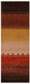 """COPPER CANYON"" HAND KNOTTED WOOL RUG - 2'6"" x 8' RUNNER"