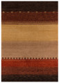 """COPPER CANYON"" HAND KNOTTED WOOL RUG - 3'9"" x 5'9"""