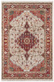 RED MEDALLION ORIENTAL DESIGN RUG - 5' x 7'5""