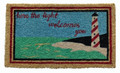 "LIGHTHOUSE COIR DOORMAT- 18"" x 30"" - NAUTICAL DECOR"