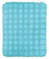 """SOMERSET TUFTED COTTON THROW BLANKET - TURQUOISE - 60"""" X 50"""" - SOLID COLOR THROW"""