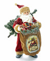CHRISTMAS DECORATIONS - OLD WORLD SANTA WITH TOY SACK & CHRISTMAS TREE
