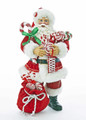 CHRISTMAS DECORATIONS - PEPPERMINT CANDY SANTA FIGURINE