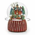 "SNOW GLOBES - ""CHRISTMAS CAROLING AT CITY HALL"" REVOLVING MUSICAL SNOW GLOBE"