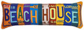 "BEACH HOUSE LICENSE PLATE PILLOW - 28"" x 9"" - OBLONG  PILLOW"