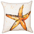 "STARFISH INDOOR OUTDOOR DECORATIVE PILLOW - 18"" SQUARE"