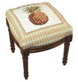 PINEAPPLE NEEDLEPOINT STOOL - VANITY SEAT - FREE SHIPPING*