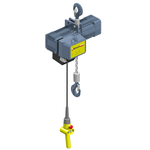 Street LX 2 Ton Electric Chain Hoist w/ Hook Mount (Part # LX031-M52000-014-2-2-46060-HK)