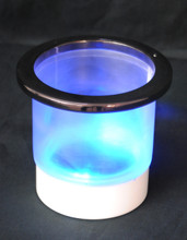 lighted battery cupholder