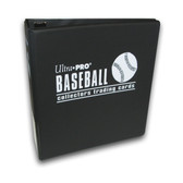 Ultra Pro 3-inch card album, designed specifically for baseball card collectors. Can hold as many pages as needed to contain your collection.