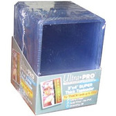 "Protect your cards with these 3"" x 4"" Ultra Pro top loaders. Great for both storage and display."