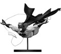 BATMAN BLACK AND WHITE -BLACK MIRROR STATUE - JOCK- DICK GRAYSON FIGURE- FIRST EDITION