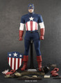 "CAPTAIN AMERICA STAR SPANGLED MAN HOT TOYS EXCLUSIVE EDITION 12"" 1:6 FIGURE"