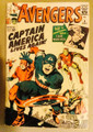 AVENGERS #4 1ST SILVER AGE CAPTAIN AMERICA 1963