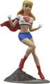 "SUPERGIRL FEMME FATALES ANIMATED PVC 9"" STATUE - SUPERMAN ADVENTURES"