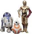 STAR WARS THE FORCE AWAKENS C-3PO & R2-D2 WITH BB-8 ARTFX+ STATUE - KOTOBUKIYA