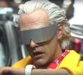 BACK TO THE FUTURE II - DR EMMETT BROWN - HOT TOYS 1/6 SIXTH SCALE FIGURE - MMS