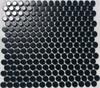 Black penny round mosaic tiles