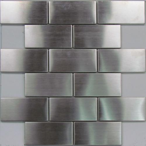 Stainless steel subway mosaic tiles