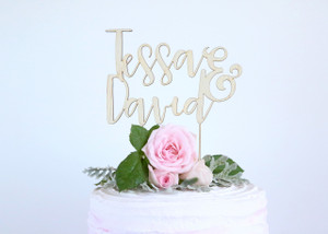 Couples name - Wedding Wood Cake Topper/Wedding wooden topper