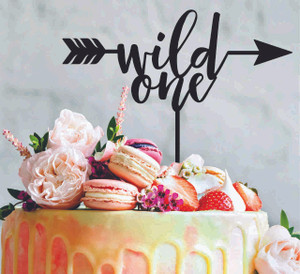 Wild one - birthday 1st birthday - Wood Cake Topper / wooden topper