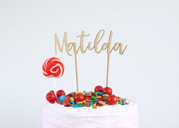 Personalised name - Wood Cake Topper / wooden topper
