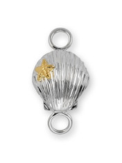 Sterling Silver Scallop Clasp with 14K Gold Accent. - SPECIAL ORDER