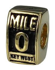 14kt Gold Mile 0 Bead