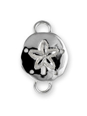 SS SAND DOLLAR POLISHED CLASP