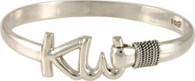 6mm Sterling Silver KW Bracelet with Sterling Wraps